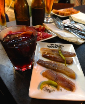 Some good 'ol sangria and sardines