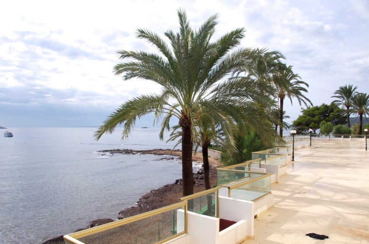 bright sunny day - hotel view