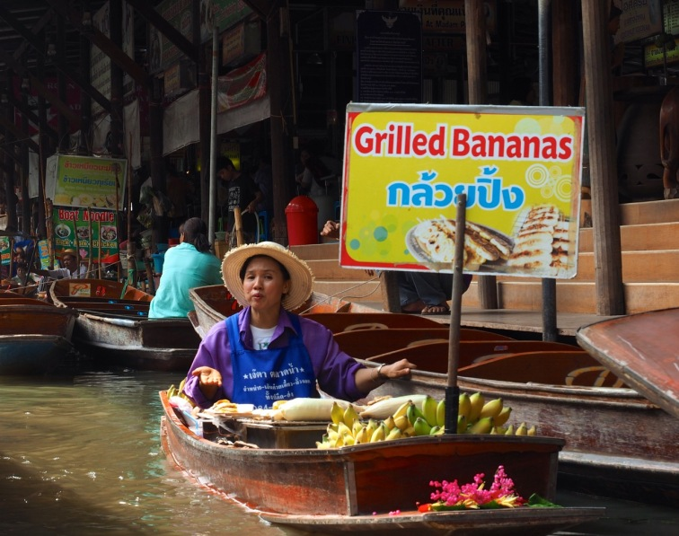 grilled bananas with syrup!